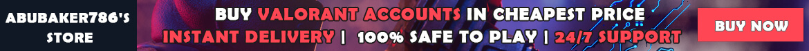 Special Valorant account offer from abubaker786