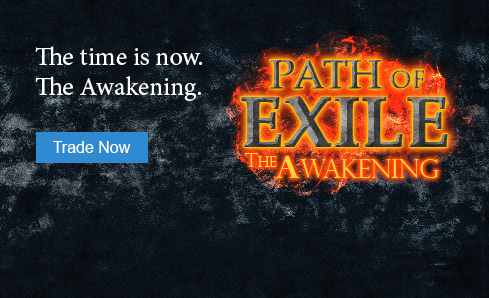 Path of Exile. The Awakening. Now on the PlayerAuctions marketplace.