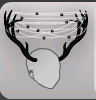( F ) Frost Antlers Black ~ FAST , SAFE & TRUSTWORTH
