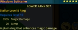(PC) NEW Stellar ring level 5 MD/Jump 987PR // Fast delivery!