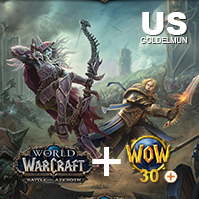 World of Warcraft: Battle for Azeroth (US) + 30 days Game Time + Boost 110