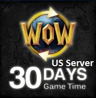 World Of Warcraft Game Time US server 30 Day