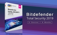 Bitdefender Total Security 2019 / 5 devices 6 Months / keyCODE