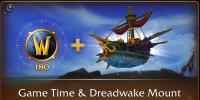 180 days Game Time and Dreadwake Mount