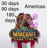 World of Warcraft Game Time Code 30 Days (Americas and Southeast Asia) US