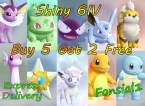 Pokemon Let's Go Pack- Customizable Any Shiny Pokemons 6IV- Buy 5 Get 2 Free. Best Offer Lets go