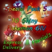 Pokemon Let's Go Pack - Customizable Any Shiny Pokemons 6IV/AV- (x10 Pokemon Best Offer Lets go)