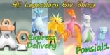 Pokemon Le's Go - All Legendary Shiny 6IV 7-Pokemons Mewtwo Mew Birds Meltan Melmeltan