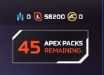 [LVL 100 Season LVL 13][47 APEX PACKS][58800 TOKENS][EMAIL][WARRANTY][AP1064]