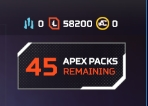 [ ACCOUNT LVL 105 ] [ BATTLE PASS LVL 1 ] [45 PACKS] [61800 TOKENS] [EMAIL] [AP1028]