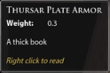 Thursar Plate Armor Book