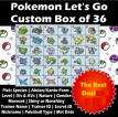 Pokemon Let's Go Custom 6IV Shiny Box 36-Pack