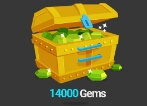14000 + 1200 Bonus Gems (Legal & Safe 100%)