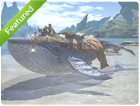 Mount: Indigo Whale (Account-wide)