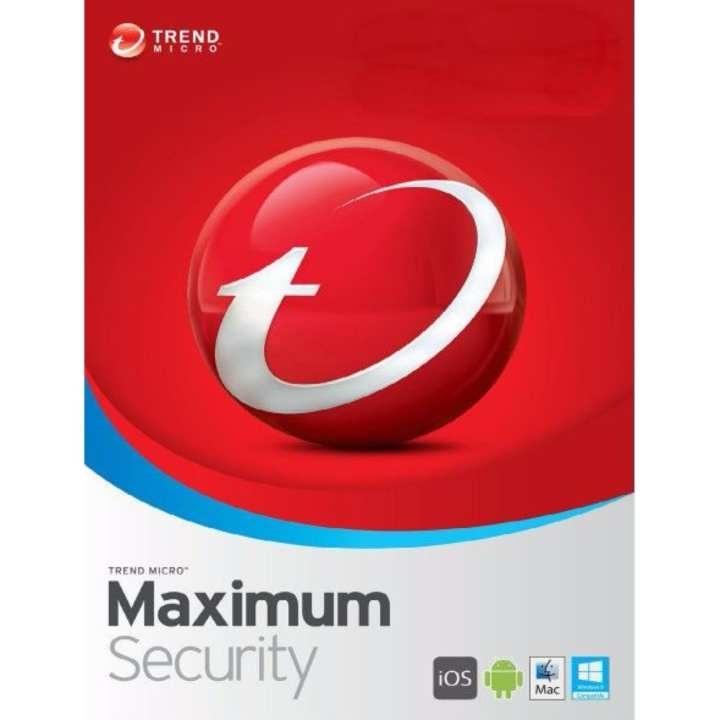 Trend Micro Maximum Security 5 Device 1 Year Global Licence Key (Windows, Mac, Android)