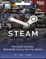 Steam Gift Card GLOBAL 50 USD - Instant Delivery