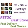 WTS Wow Classic 30-50 lvl Druid Package, All Class, All Realm, US, Euro delivery!