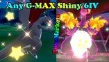Pokemon Sword Shield -  Any Shiny G-MAX 6IV - Legit - Delivery <2H