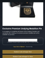 Undying Seal Medallion Pin Limited Code