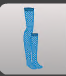 ( F ) Hidden Forest Shinobi Thigh-Highs Blue ~ FAST , SAFE & TRUSTWORTHY