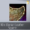 10 x Elonian Leather Square
