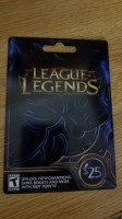 $25 League of Legends Riot Points redeem code