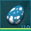 PC PVE NEW FERT ARGIE EGG 1856 BASE WEIGHT (2227 WHEN IMPRINTED)