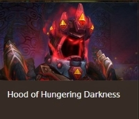 Hood of Hungering Darkness--Removed from game transmog helm. Last item.
