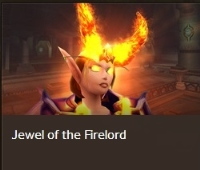Jewel of the Firelord--Removed from game transmog helm. Last item.