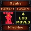 Gyalis - Perfect 7/7 SV - Mirroring Trait - 4 Egg Moves - Level 1- Instant Delivery