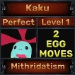 Kaku - Perfect 7/7 SV - Mithridatism Trait - All Egg Moves - Level 1- Instant Delivery