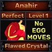 Anahir - Perfect 7/7 SV - Flawed Crystal Trait - Level 1- Instant Delivery