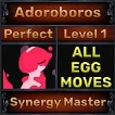 Adoroboros - Perfect 7/7 SV - Synergy Master Trait - All Egg Moves - Level 1- Instant Delivery