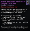 Special Requisition Pack - 23rd Century Tier 6 Ship  Sleep Time 22:00 - 08:00 Rome,Italy Time