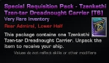 Special Requisition Pack - Tzenkethi Tzen-tar Dreadnought Carrier (T6) Sleep Time 22:00 - 08:00 Rome,Italy Time
