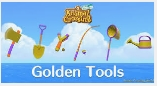 6 Golden Tools (Axe,Net,Fishing Rod,Shovel,Watering Can & Slingshot) + FREE Vaulting Pole and Ladder