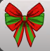 ( F ) Giant Striped Bow Wings Green and Red ~FAST SERVICE GUARANTEED
