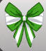 ( F ) Giant Striped Bow Wings Green and White  ~FAST SERVICE GUARANTEED