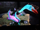 PS4 PVE SELLING CYAN/PURPLE, RED BEAK LEVEL 248 UNLEVELED FULLY GROWN QUETZALS WITH SADDLE