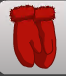 ( M ) Solid Pom-Pom Mitten Red ~FAST SERVICE GUARANTEED