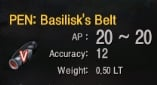 PEN V: Basilisk Belt MIN PRICE EU