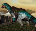 Therizinosaur Level 377,Points Available 5 ,Base DMG 1466,male + saddle ,PC PVE New Offcial server