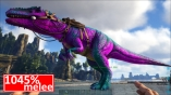 1045 Base Melee Male Giganotosaurus Clone Cyan / Magenta - Cotton Candy PC PVE NEW