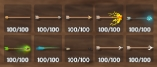 [Big] any x100 Arrow of your Choice (Fire-Frost-Poison-Needle-Obsidian-Silver-Bronze-Flint-Iron-Wood) , Fast Delivery.